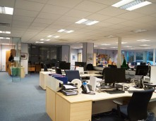 An image showing an office that has undergone an office relocation