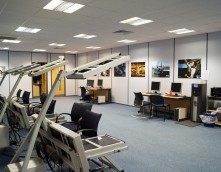 An image showing an IT room that has undergone an office refurbishment by Wessex Interiors