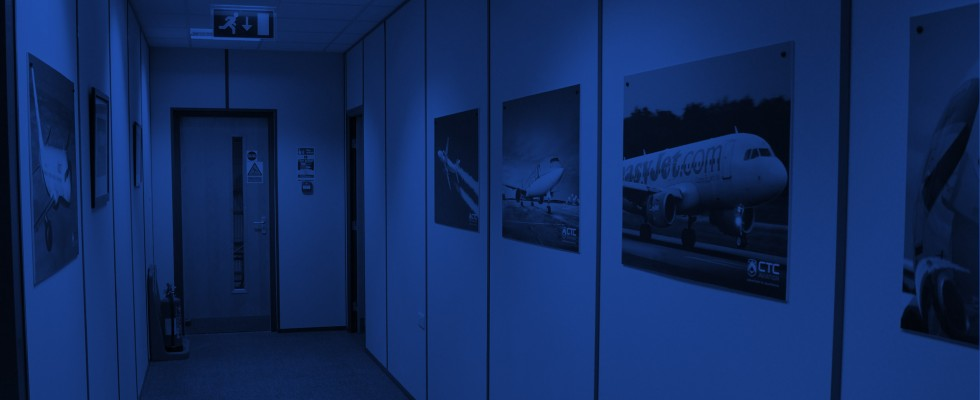 An image showing a the Boeing office hallway refurbishment