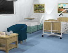 An image showing a design for a care home that Wessex Interiors produced for a refurbishment