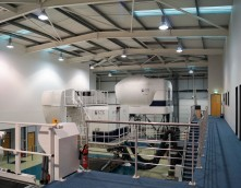 An image showing a CTC Machine in an office that Wessex Interiors refurbished and installed a mezzanine floor