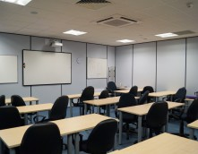 An image showing a lecture room that Wessex Interiors designed