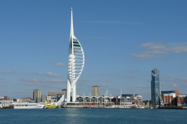 an image of the spinnaker tower in portsmouth