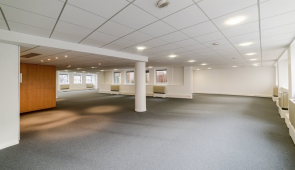 an image of an office with a suspended ceiling