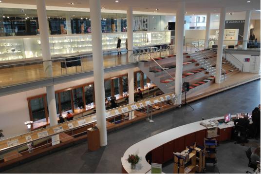 an image of a retail mezzanine floor