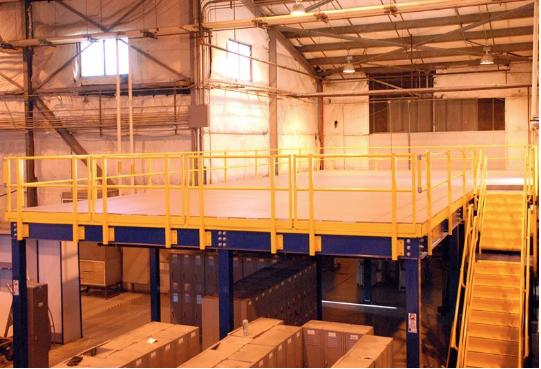 an image of mezzanine floor in a warehouse